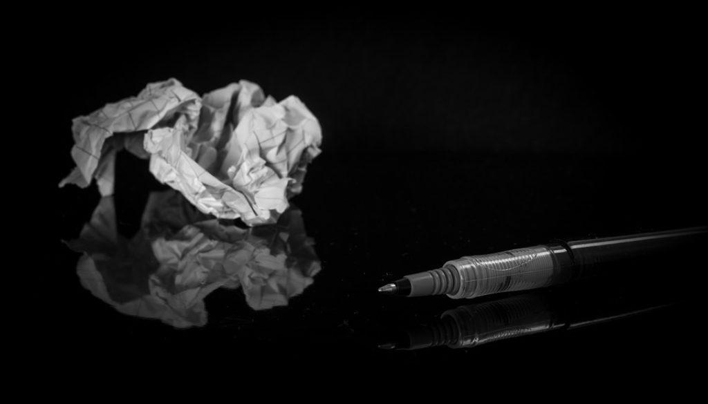 Paper Trash Pen Crumpled Paper